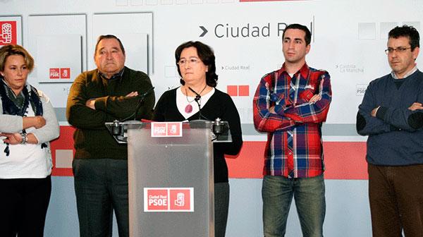 María Luisa Delfa en rueda de prensa
