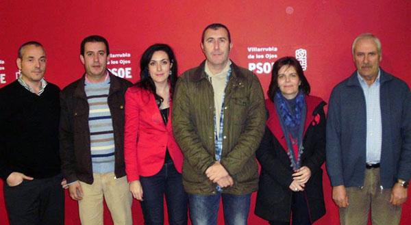 Fotografía de familia del grupo municipal de Villarrubia de los Ojos