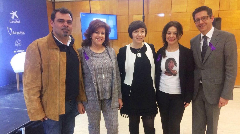 Ricardo Calzado junto a las alcaldesas de Ciudad Real, Alcazar y Torralba y el director de Cadena Ser Ciudad Real
